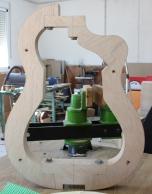 Molde guitarra con cutaway